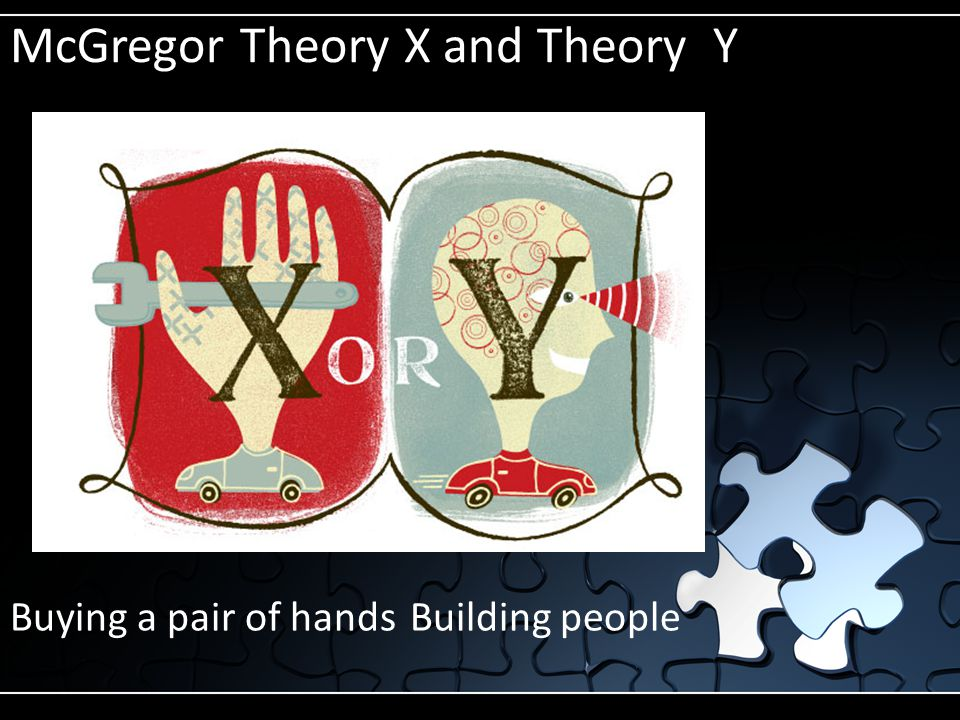 McGregor Theory X and Theory Y Buying a pair of hands Building people