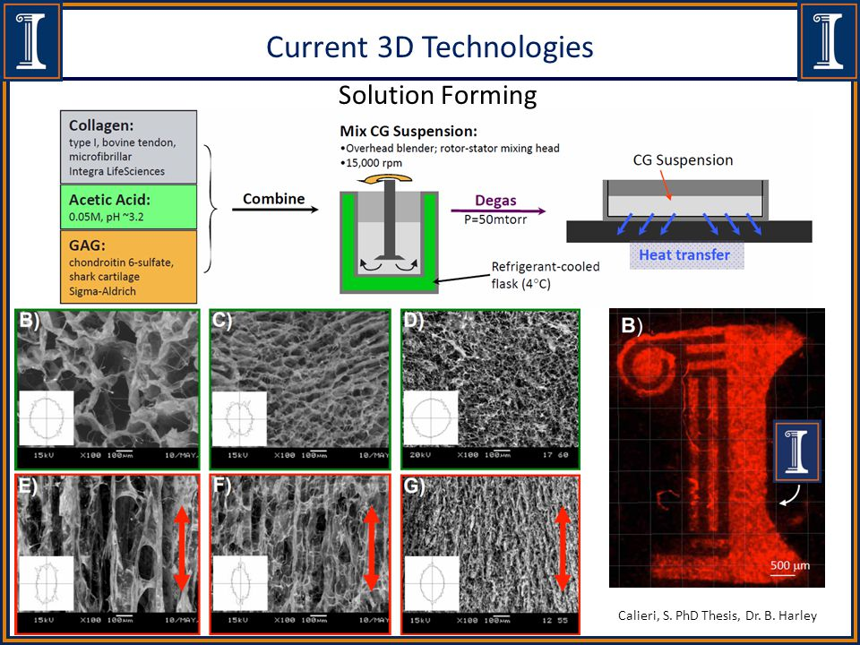 Current 3D Technologies Solution Forming Calieri, S. PhD Thesis, Dr. B. Harley