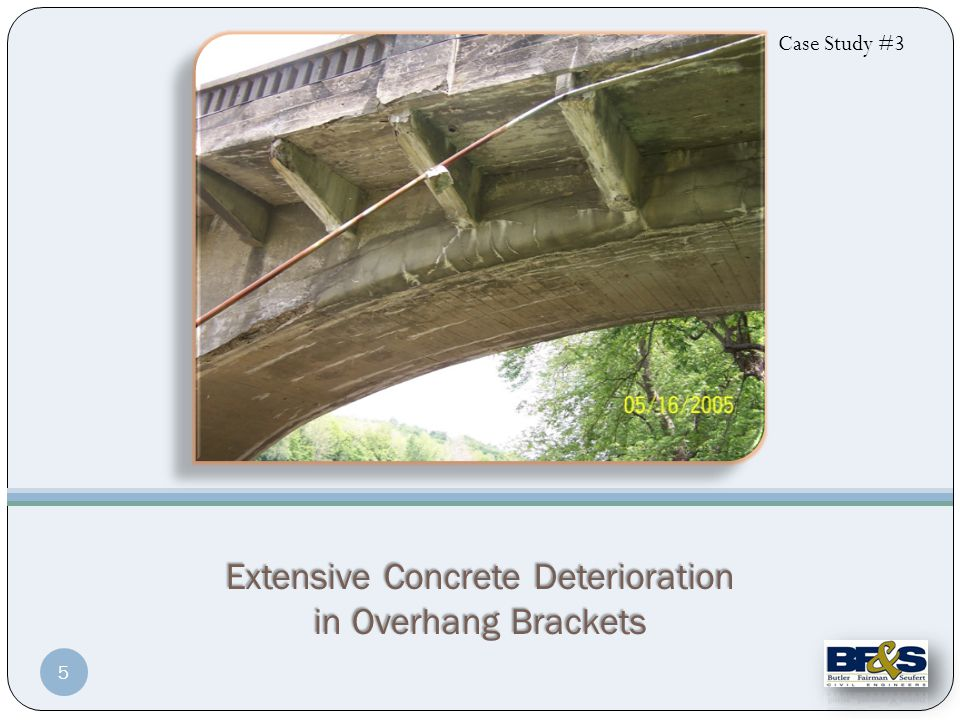 Extensive Concrete Deterioration in Overhang Brackets Case Study #3 5