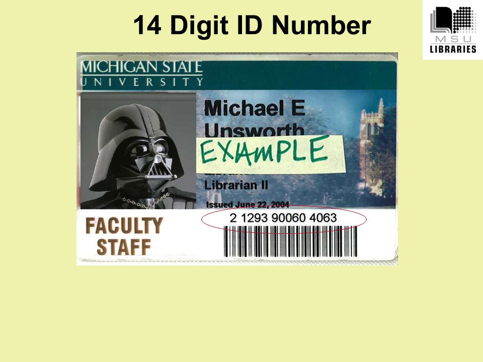 14 Digit ID Number