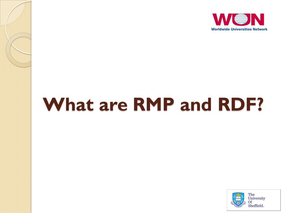 What are RMP and RDF