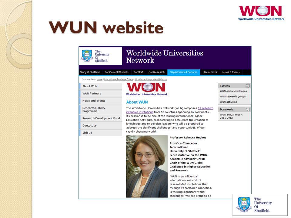 WUN website