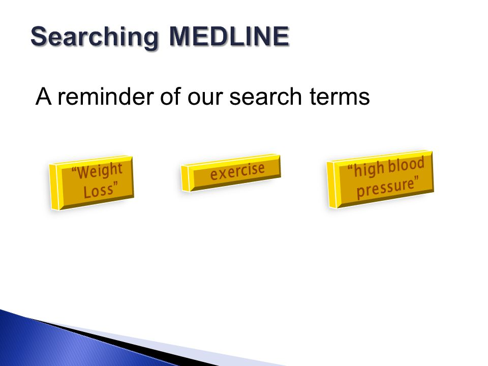 A reminder of our search terms