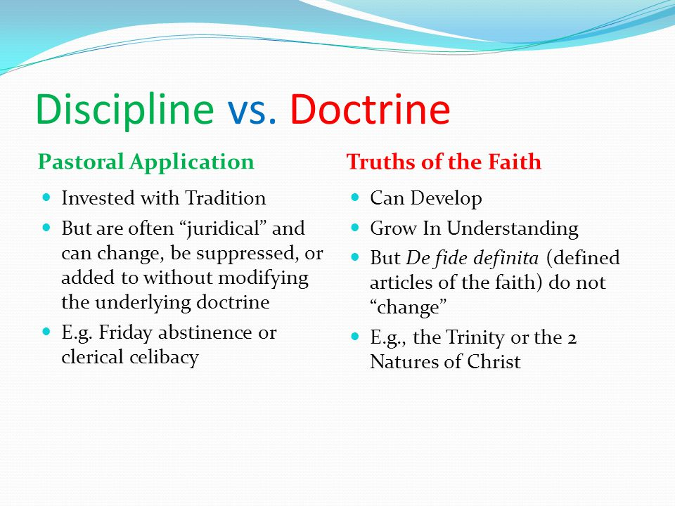 Discipline vs.
