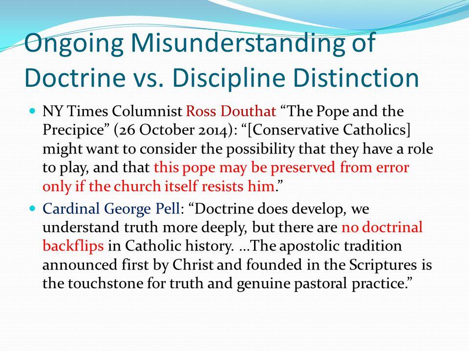 Ongoing Misunderstanding of Doctrine vs.