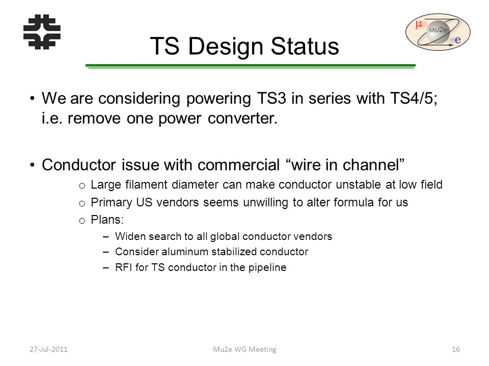 TS Design Status We are considering powering TS3 in series with TS4/5; i.e.