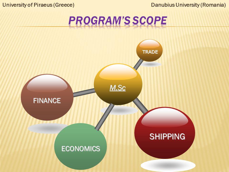 A Maritime Economics B Transport& Regional Economics C Finance& Accounting D International Trade