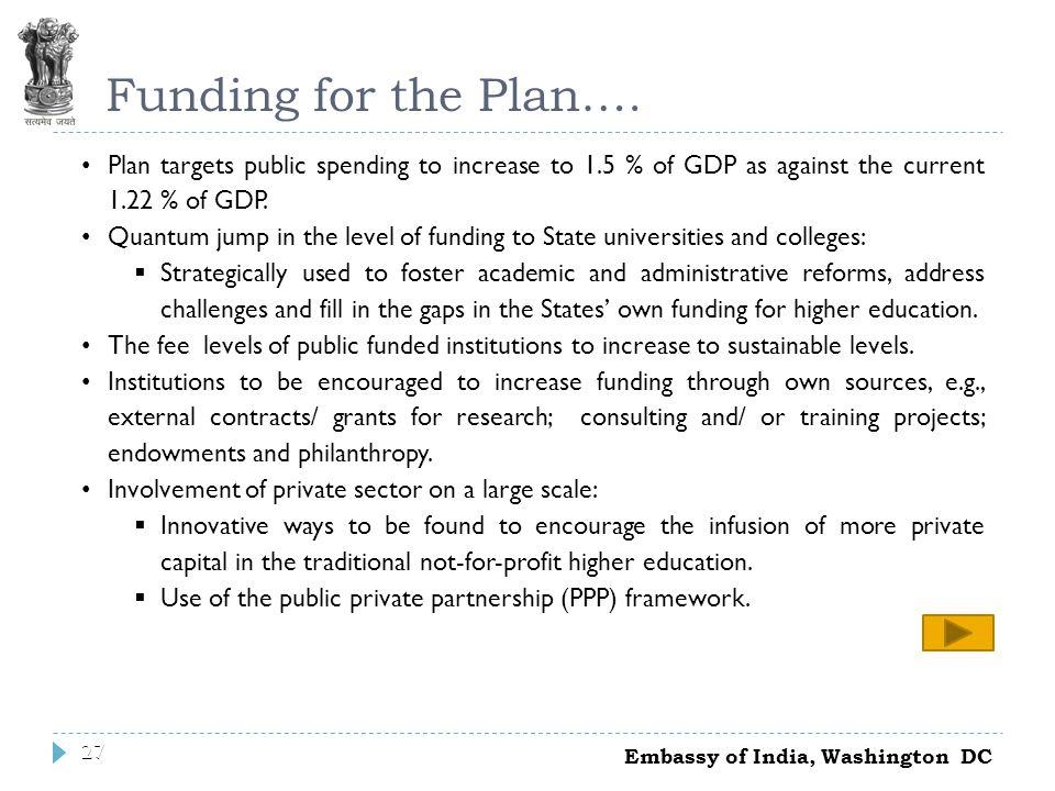 27 Funding for the Plan….