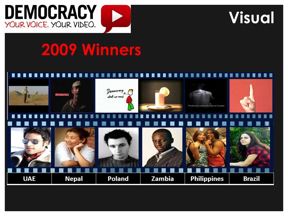 2009 Winners UAENepalPolandZambiaPhilippinesBrazil Visual