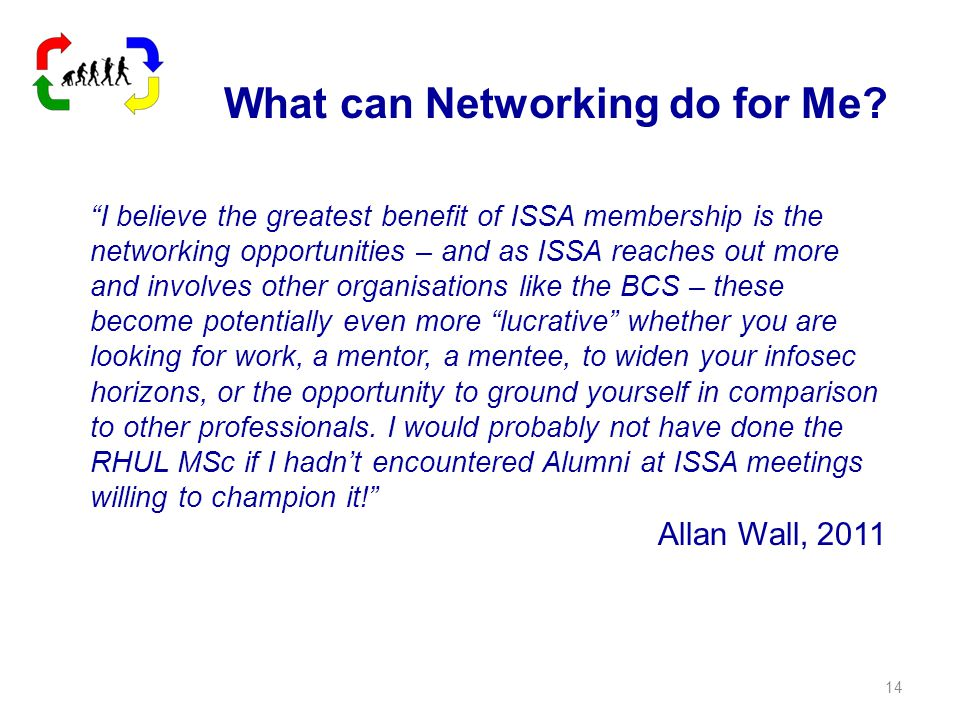 What can Networking do for Me.