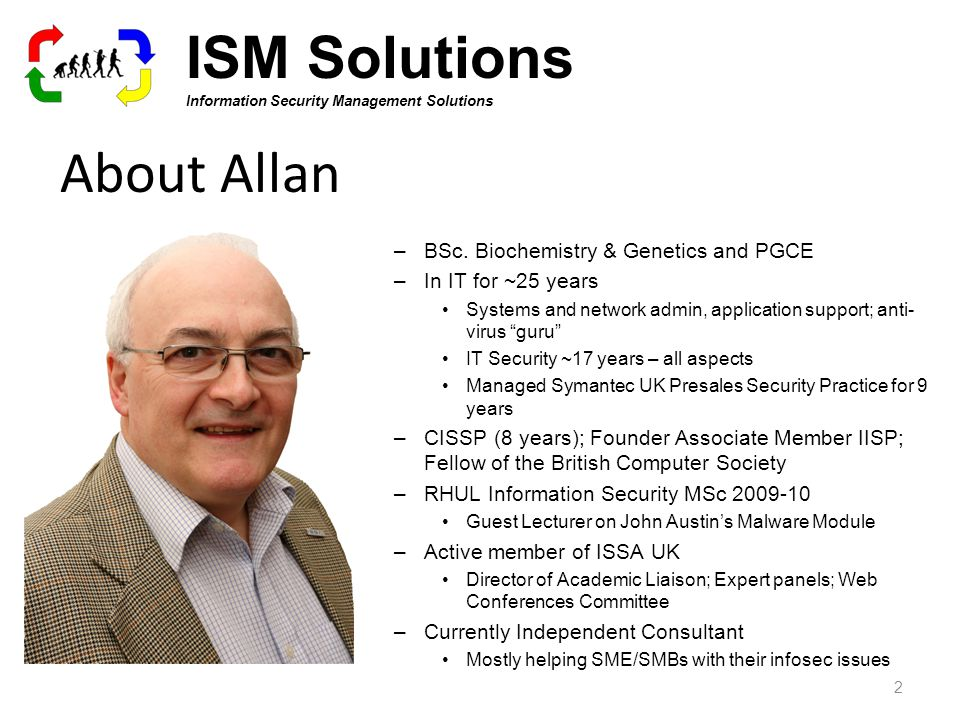 About Allan –BSc.
