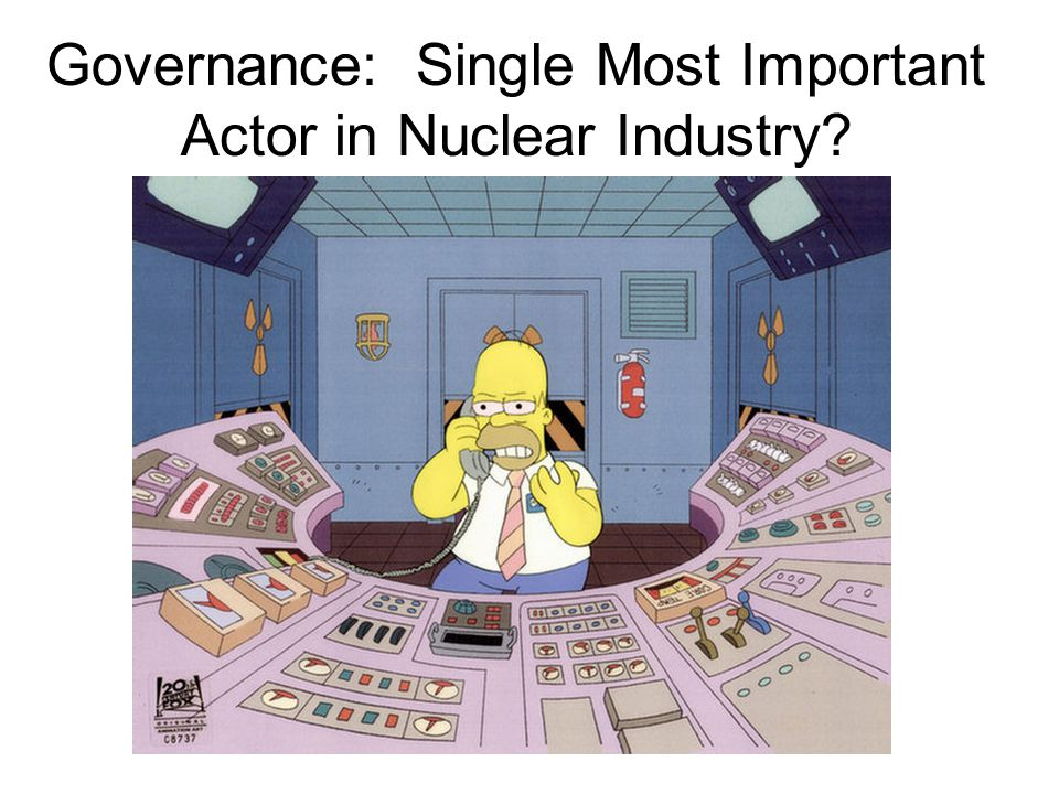 February 13, 2013 sustainable energy policy28 Governance: Single Most Important Actor in Nuclear Industry