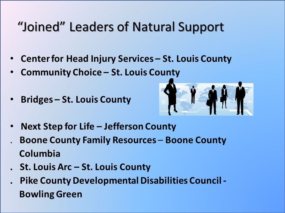Joined Leaders of Natural Support Center for Head Injury Services – St.