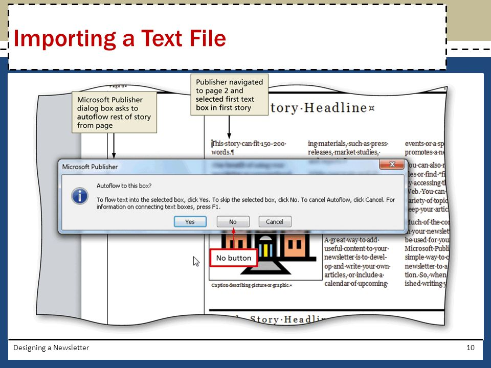 Designing a Newsletter10 Importing a Text File