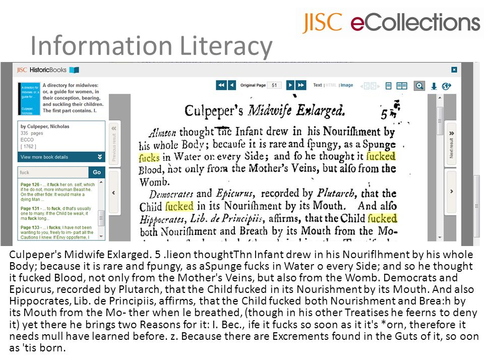 Information Literacy Culpeper s Midwife Exlarged.