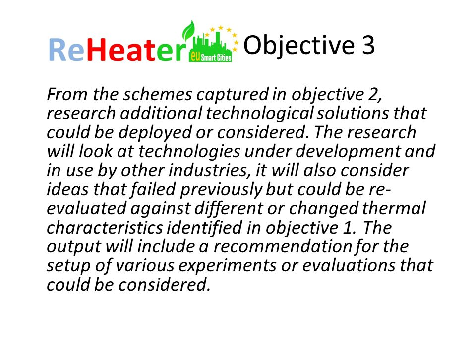 Objective 3 From the schemes captured in objective 2, research additional technological solutions that could be deployed or considered.