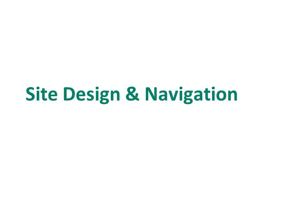 Site Design & Navigation