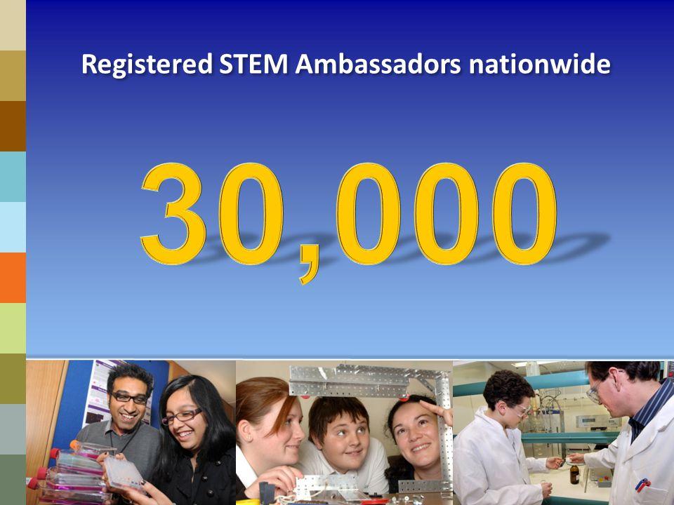 Registered STEM Ambassadors nationwide