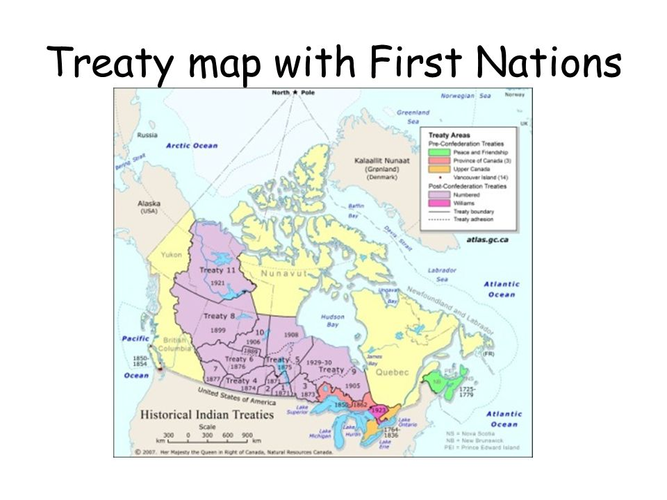 Treaty map with First Nations