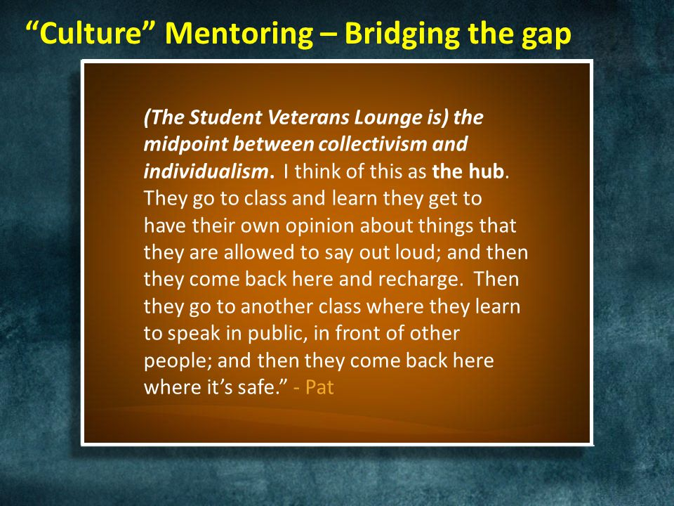 "9 Mentoring Domains SYSTEM AND CULTURE ADAPTATION – Traditional ""Paving the Way"" mentoring – Environmental Attunement – Peer group mentoring DEVELOPME"