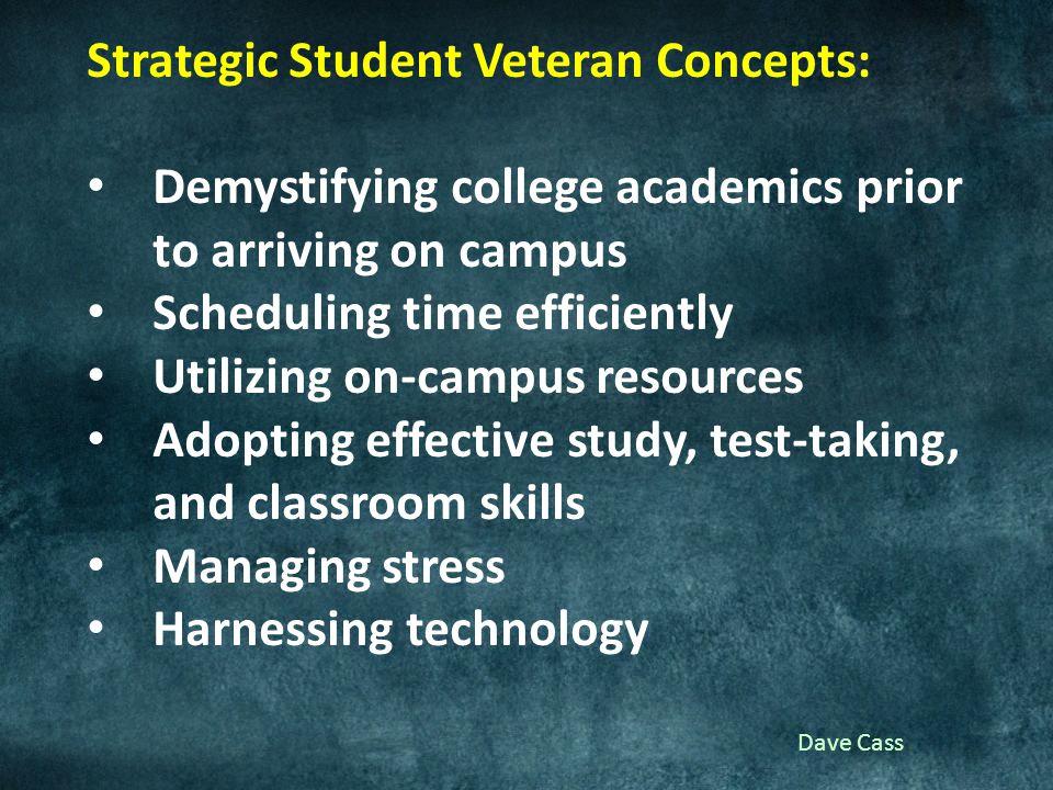 Dave Cass Towards a Veteran-Centric Context in Higher Education