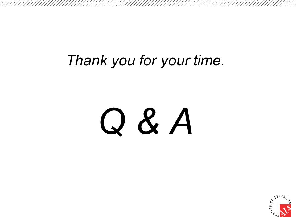 Thank you for your time. Q & A