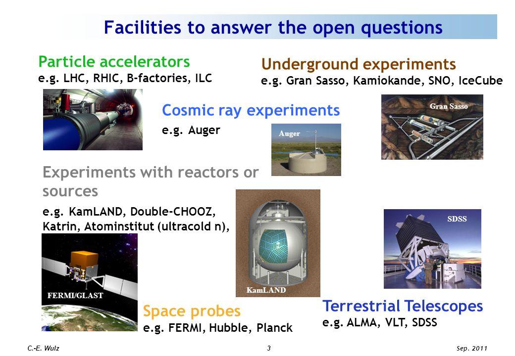 Sep. 2011 C.-E. Wulz3 Particle accelerators e.g.