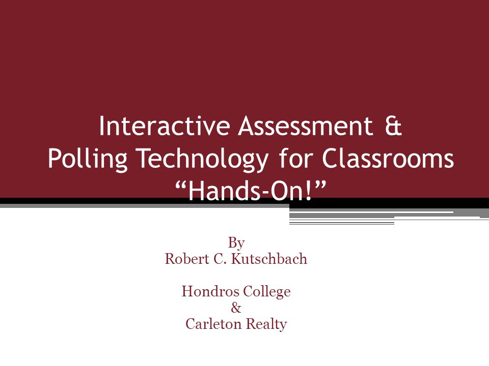 1) Do you believe that Polling Technology was a good topic to include in this years REEA Conference.