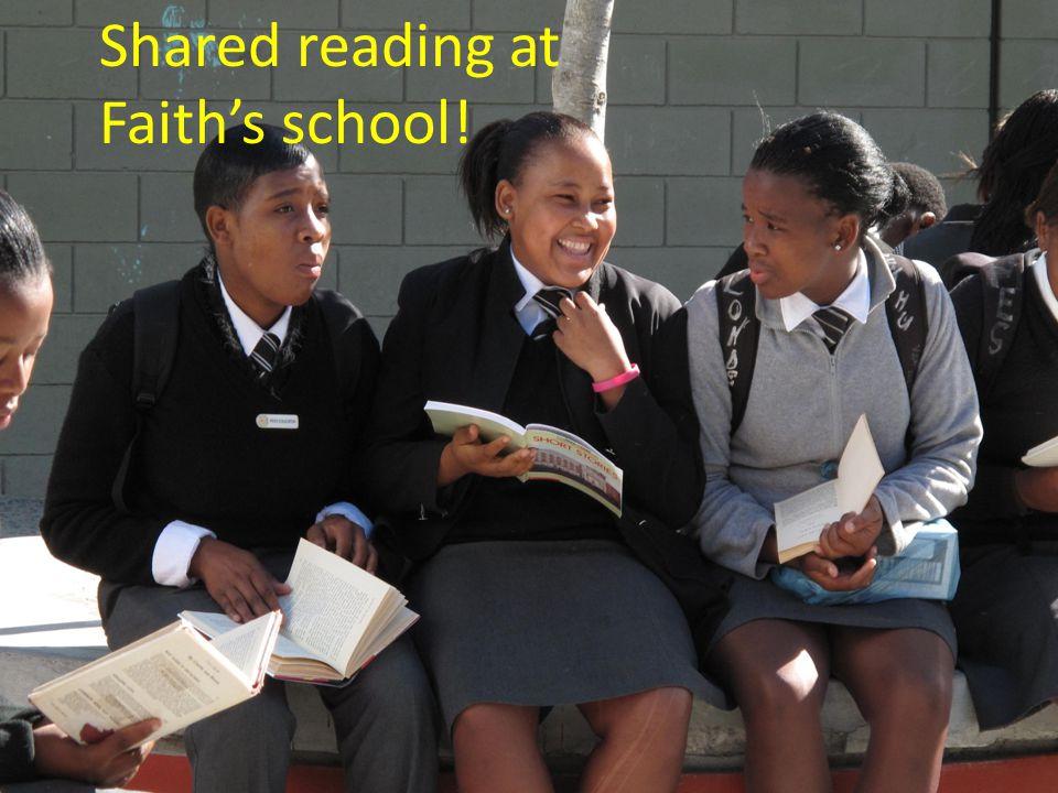 Shared reading at Faith's school!