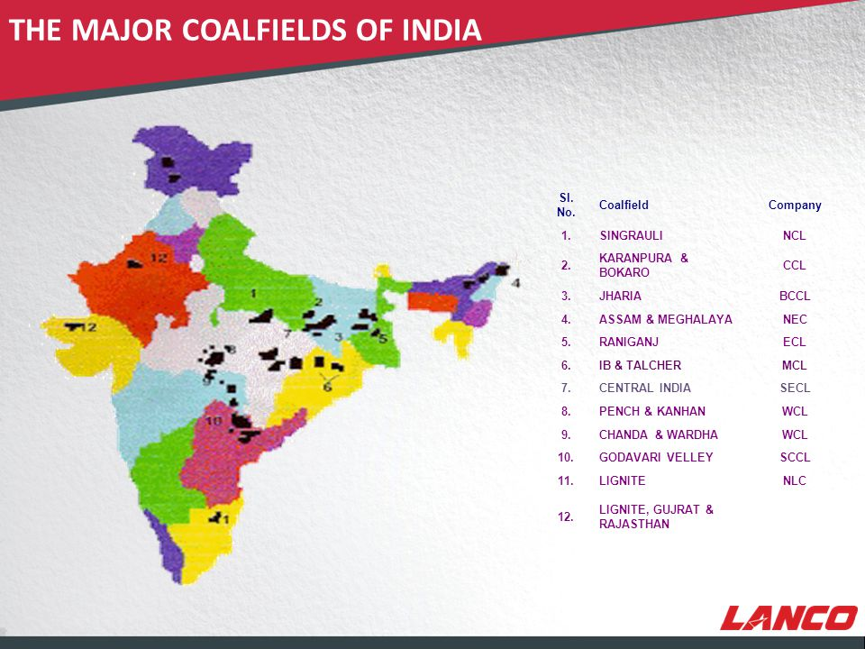 © LANCO Group, All Rights Reserved COAL RESERVES IN INDIA STATE-WISE