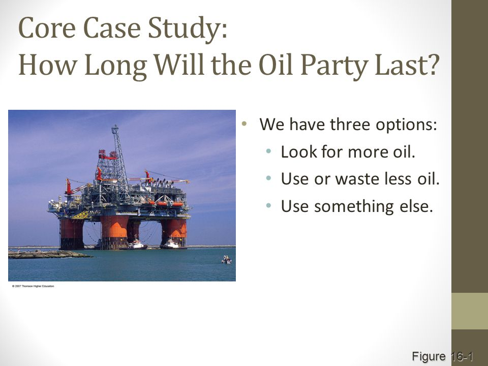 Core Case Study: How Long Will the Oil Party Last.