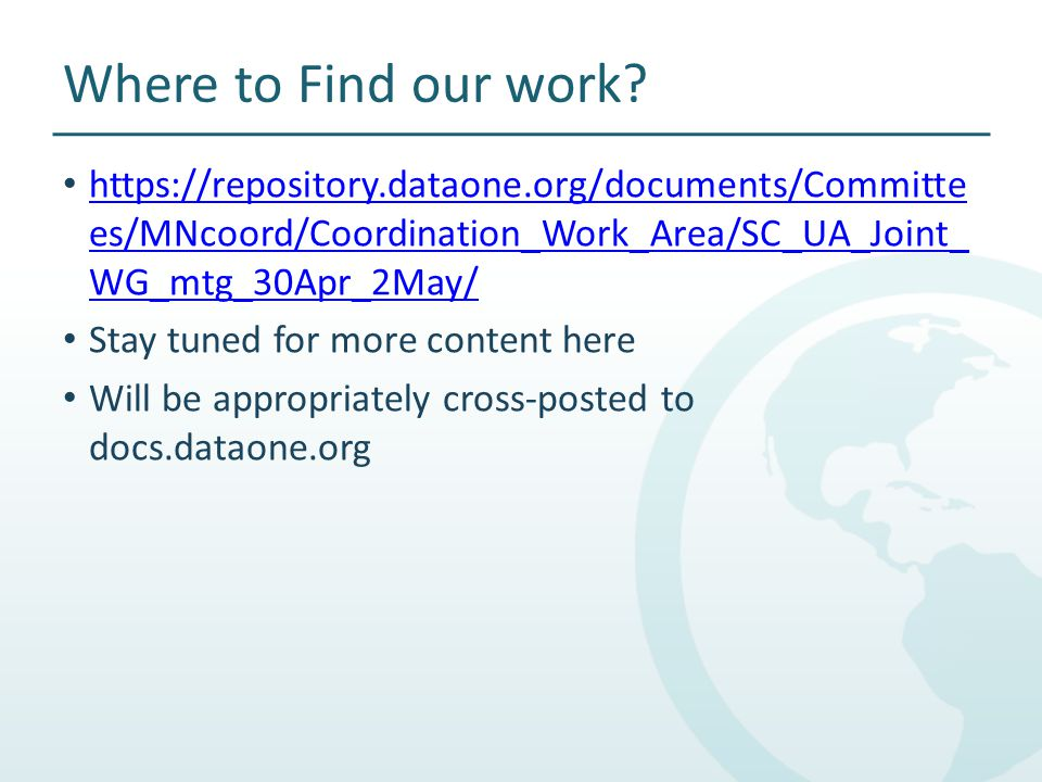 Where to Find our work.