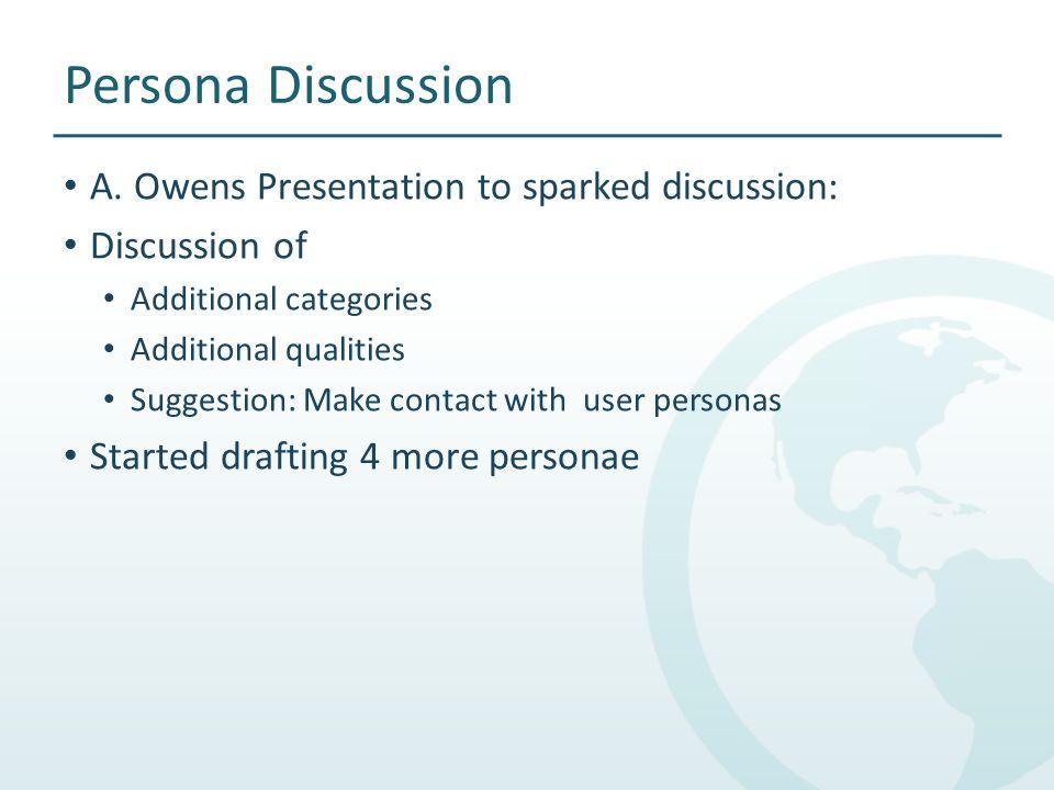 Persona Discussion A.