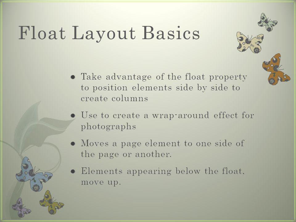 Float Layout Basics