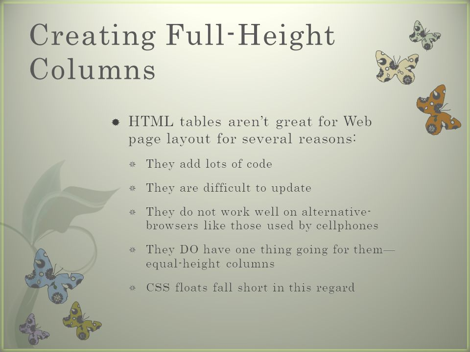 Creating Full-Height Columns