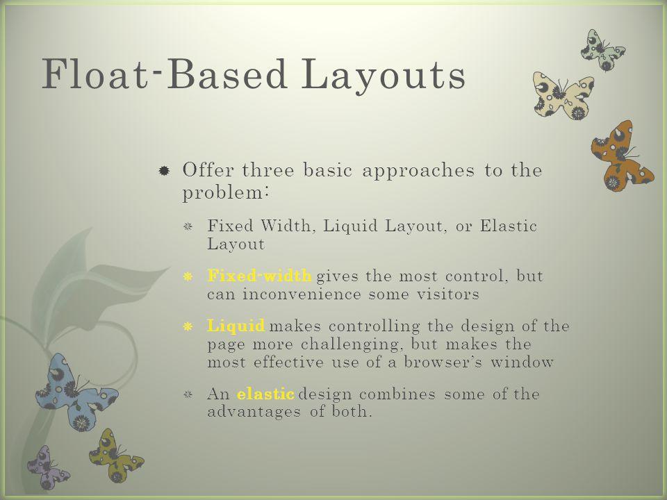 Float-Based Layouts