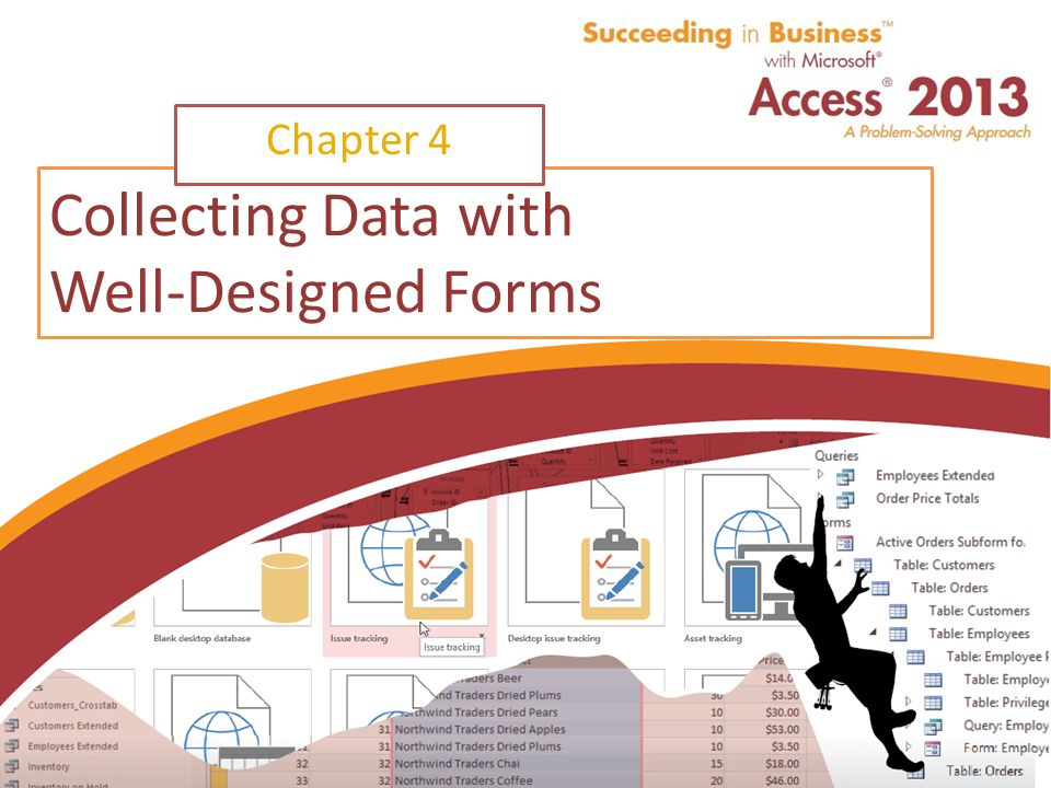 Succeeding in Business with Microsoft Access 2013 Collecting Data with Well-Designed Forms Chapter 4