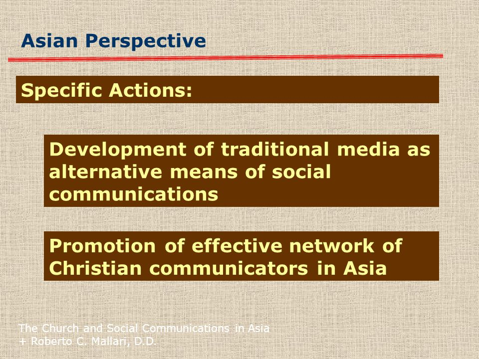 The Church and Social Communications in Asia + Roberto C.