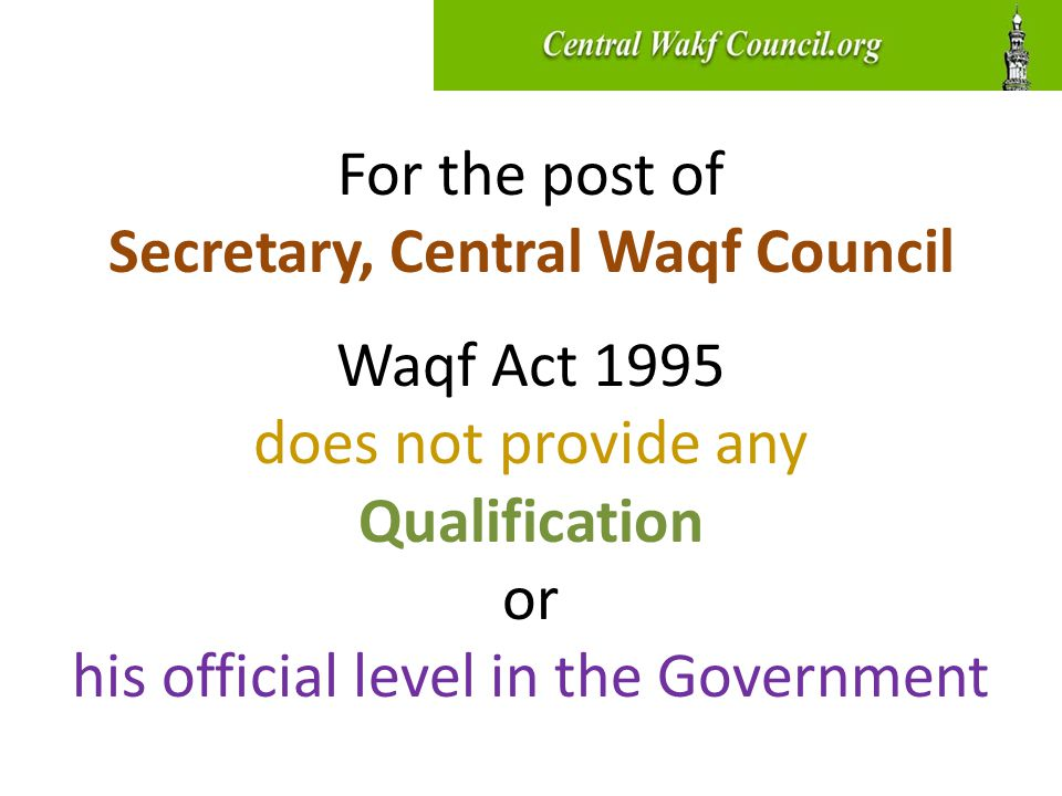 JPC, Sachar Committee & Inter-ministerial Committee: Enable the Waqf Act to override Rent Control Acts of the states