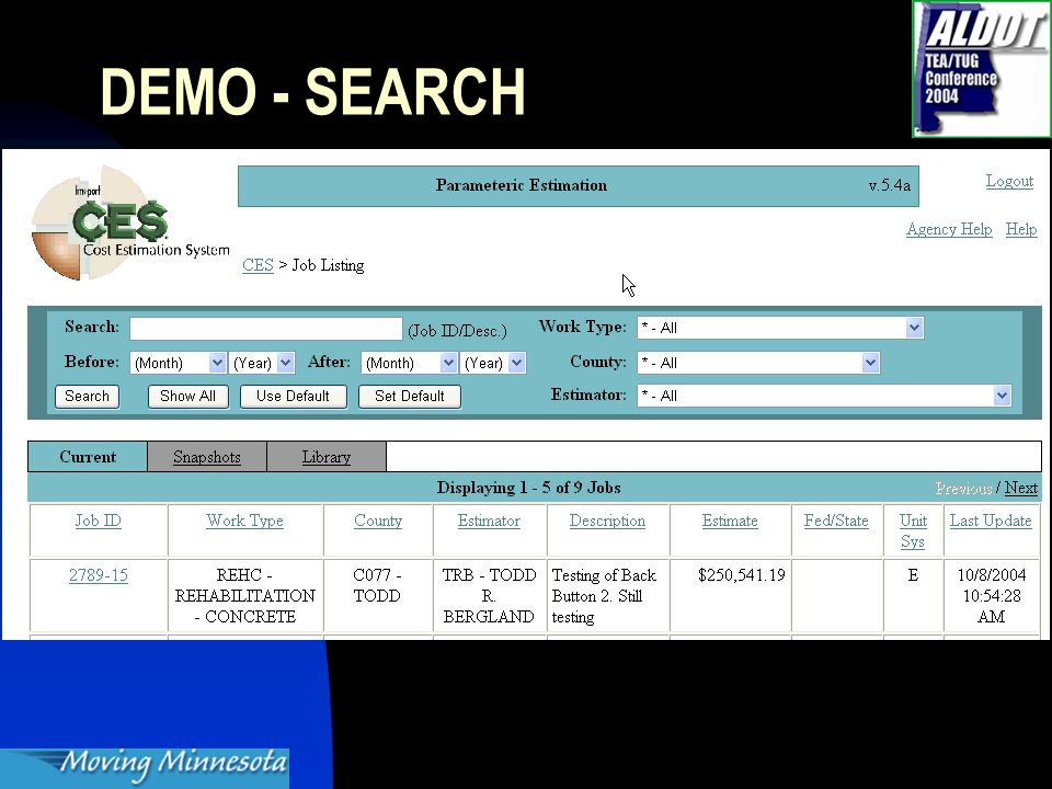 DEMO - SEARCH