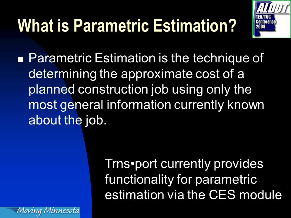 What is Parametric Estimation.