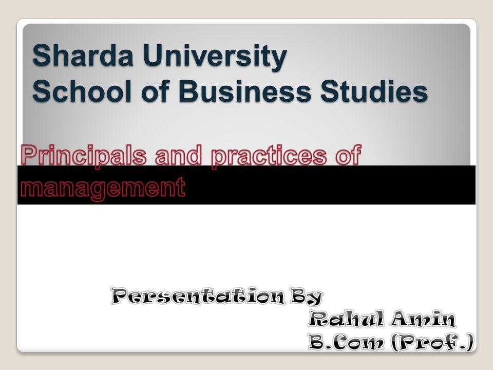Sharda University School of Business Studies