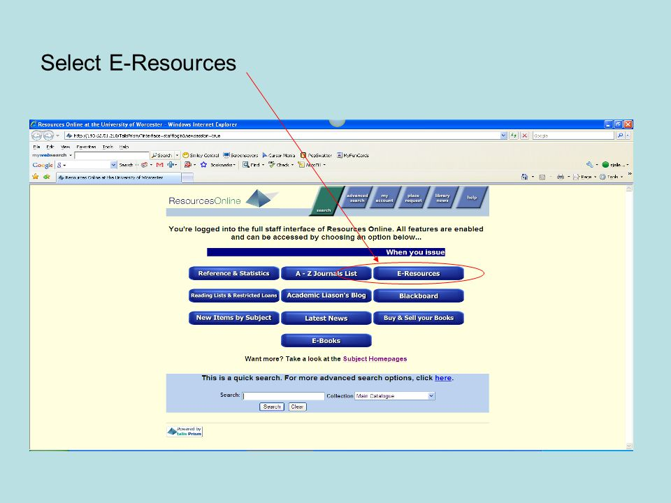 Select E-Resources