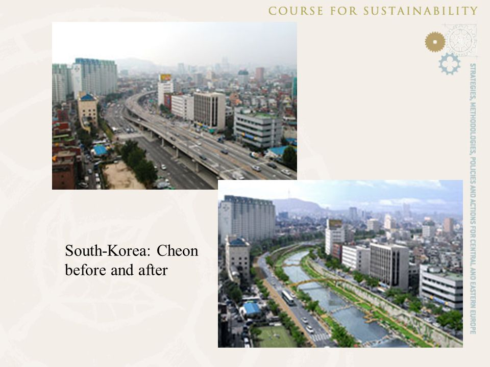 South-Korea: Cheon before and after