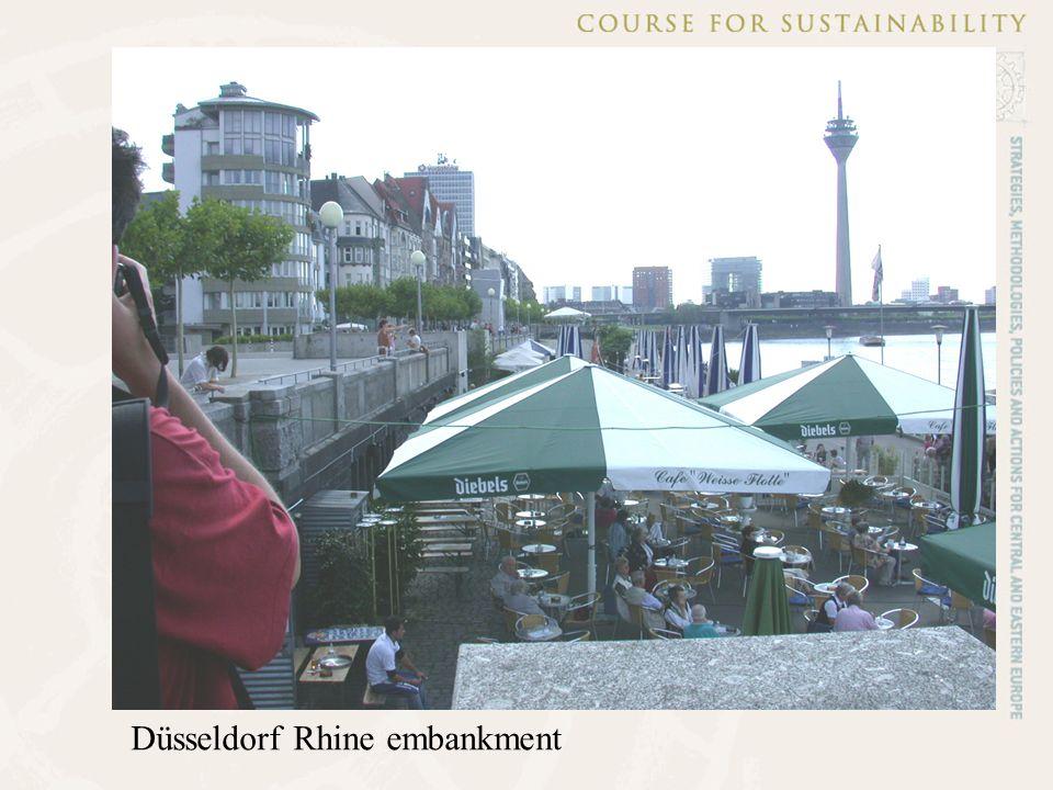 Düsseldorf Rhine embankment