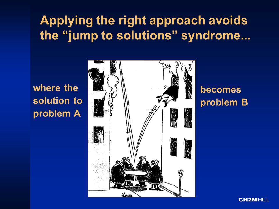 Applying the right approach avoids the jump to solutions syndrome...