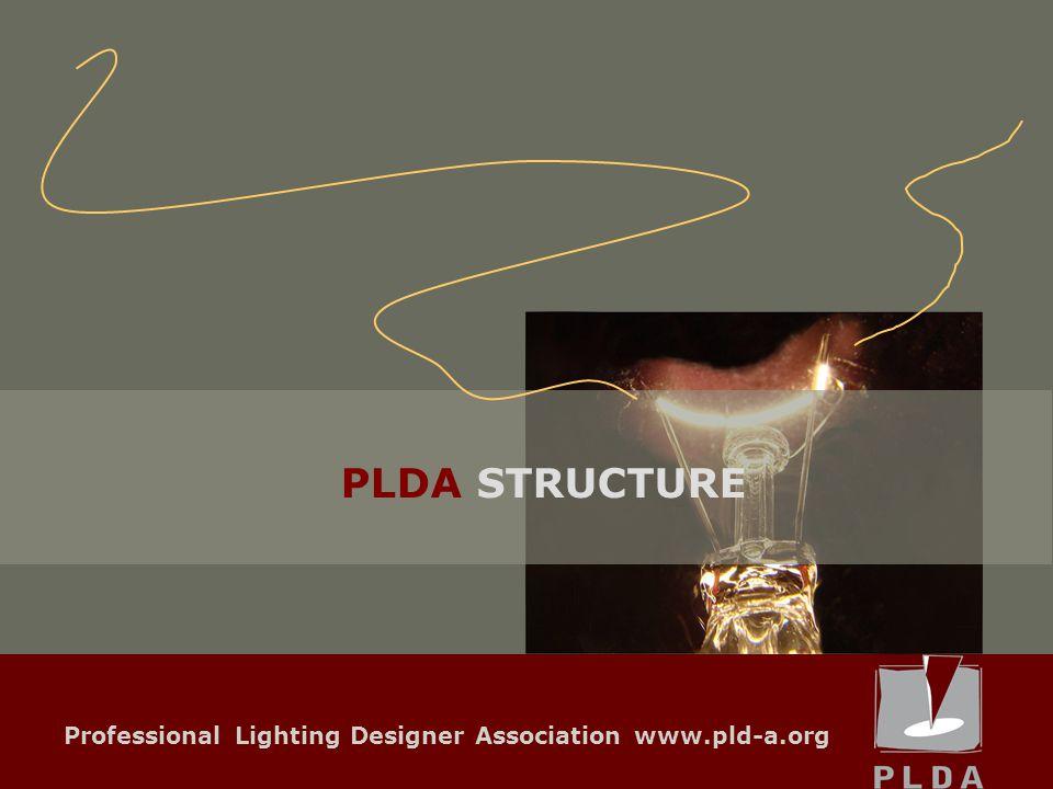 Professional Lighting Designer Association www.pld-a.org PLDA STRUCTURE