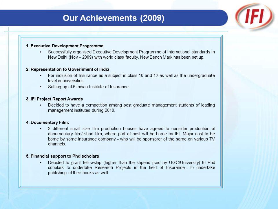 Our Achievements (2009) 1.
