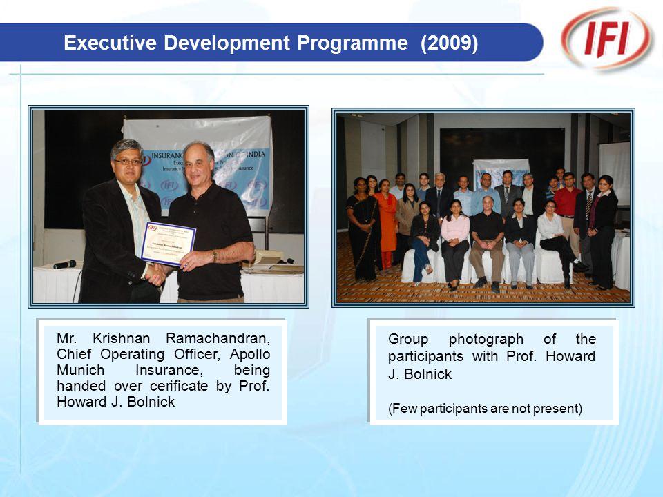 Executive Development Programme (2009) Mr.
