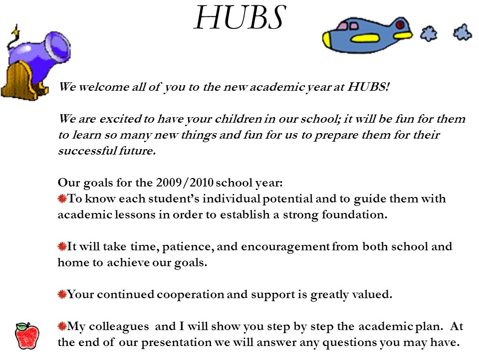 We welcome all of you to the new academic year at HUBS.